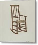 Raw Hide Bottom Rocker Metal Print
