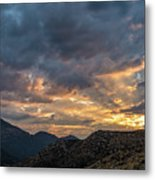 Rays Above Tecate Peak Metal Print
