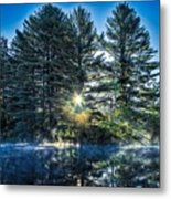 Rays Of Light On The Androscoggin River Metal Print