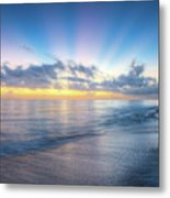 Rays Over The Reef Metal Print