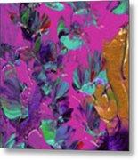 Razberry Ocean Of Butterflies Metal Print