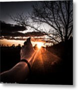 Reaching Out To Dad In Heaven  Metal Print