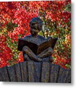 Reading Boy - Santa Fe Metal Print