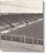 Reading - Elm Park - Norfolk Road Stand 3 - Bw - 1970 Metal Print