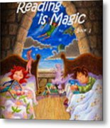 Reading Is Magic Metal Print