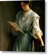 Reading The Letter  Metal Print