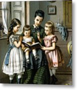 Reading To The Children Metal Print