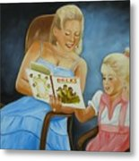 Reading With Gramma Metal Print