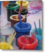 Ready   Set    Paint Metal Print