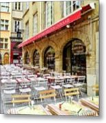 Ready For Lunch In Lyon Metal Print