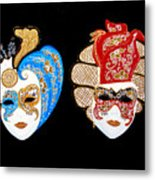 Ready For The Venice Carnival Metal Print