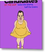 Real Candidates Of The Gop - Chris Christie - The Man-eater Metal Print