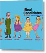 Real Candidates Of The Gop -clear Background Version 2 Metal Print