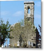 Rear View Fuerty Church And Cemetery Roscommon Ireland Metal Print