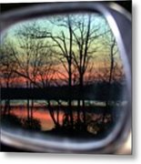 Rearview Mirror Metal Print