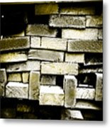 Reclaimed Lumber Metal Print