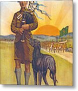 Recruitment Poster The Call To Arms Irishmen Dont You Hear It Metal Print