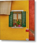 Rectangle Iterations Broom And Laundry Burano_dsc5134_03042017 Metal Print