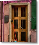 Rectangle Iterations Door Broom And Bucket_dsc5127_03042017 Metal Print
