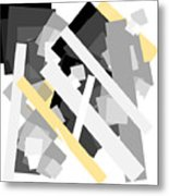Rectangles With Yellow Accent Metal Print