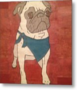 Recycled Pug Metal Print
