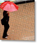 Red 1 - Umbrellas Series 1 Metal Print