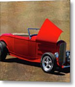 Red 1932 Ford Hot Rod  Metal Print