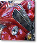 Red 1938 Plymouth Metal Print