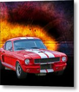 Red 1966 Mustang Fastback Metal Print