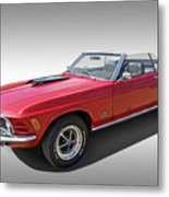 Red 1970 Mach 1 Mustang 351 Cleveland Metal Print