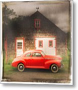Red 41 Coupe Metal Print