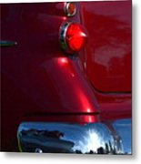Red 50's Classic Tail Light Metal Print
