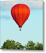 Red Above The Trees Metal Print