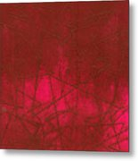 Red Abstract Shapes Metal Print