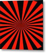 Red And Black Abstract #3 Metal Print