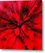 Red And Black Explosion Metal Print