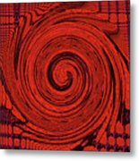 Red And Black Swirl - Modern/contemporary Painting Metal Print