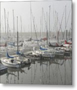 Red And Blue Boats Metal Print by Laurie With