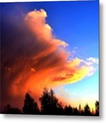 Red And Blue Sunset Metal Print