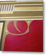 Red And Gold Gun  Metal Print