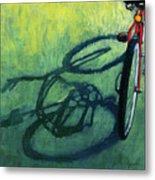 Red And Green - Bike Art Metal Print by Linda Apple