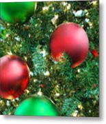 Red And Green Holiday Metal Print by Karen Musick