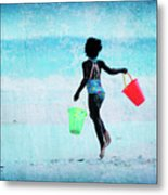 Red And Green Pails Metal Print