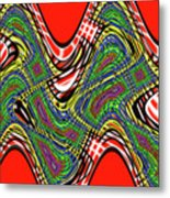 Red And Green Thing Metal Print