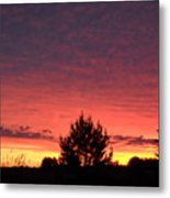 Red And Orange June Dawn Sky Metal Print