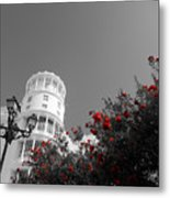 Red And White Contrast Metal Print