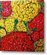 Red And Yellow Garden Metal Print