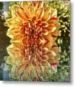 Red And Yellow Reflection Metal Print