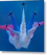 Red Arrows At Airbourne 2010 Metal Print