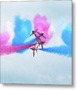 Red Arrows Break Metal Print